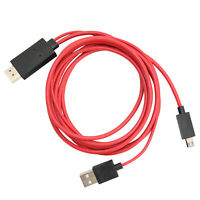 MHL TO HDMI MICRO USB 1080P HD AV TV ADAPTER CABLE CORD FOR ZTE ERA U970 PHONE