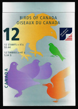 Canada Stamps - Booklet pane of 12 in Cover - Birds of Canada #1890-93 (BK241)