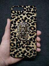 3D Bling Deluxe Shiny Leopard Lion Stand Holder Hard Back Case Cover for Phones
