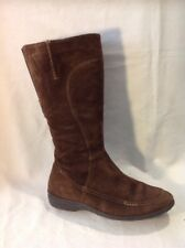 K By Clarks Brown Mid Calf Suede Boots Size 5D