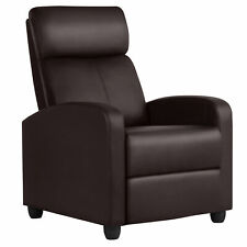 FDW SRC-7087 Modern Home Theater Recliner Chair - Black