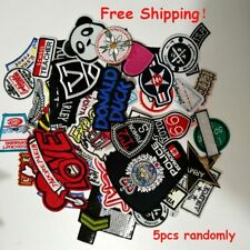 5 pcs Diy Patch Embroidered Iron On Patches Badge Bag Fabric Applique Craft
