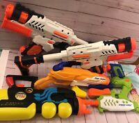 NERF LARAMI Super Soaker Water Guns Pistols Lot of 5 Tested - WORKS GREAT