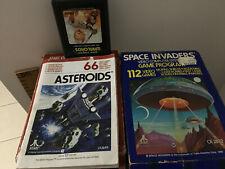 Vintage Atari 2600 Game Program Space Invaders & Warlords