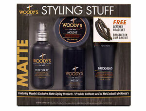 Woody's Matte Styling Stuff for Men, Gift Set