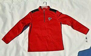 Atlanta Falcons Long Sleeve Sweat Shirt NEW Size Large/XL NFL 1/2 Zip Mock Neck