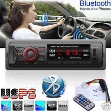 Car Bluetooth Stereo Audio 1 DIN In-Dash FM Aux Input Receiver SD USB MP3 Radio