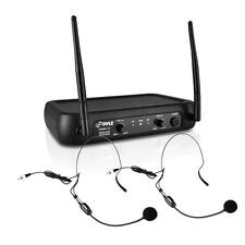 NEW Pyle PDWM2145 VHF Wireless Microphone System w/ 2 Lavaliers & 2 Headsets