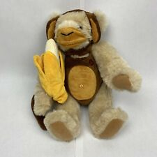 Authentic Vermont Teddy Bear in Monkey Costume Fully Jointed, Tush Tag 16�