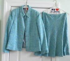 NOVIELLO BLOOM Baby Blue Suit / Skirt Set Size 12