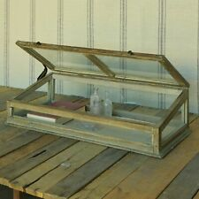 Wood Glass Tabletop Display Case Rustic