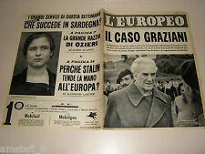 EUROPEO=1952/44=RODOLFO GRAZIANI=ARCINAZZO=VIGEVANO=POGNANA LARIO=SARDEGNA=