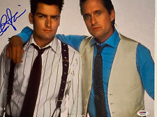CHARLIE SHEEN AUTOGRAPHED SIGNED 11x14 PHOTO PSA/DNA COA