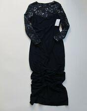 NWT LAUREN Ralph Lauren Sequin & Mesh Gown in Navy Blue Jersey Dress 8 $210