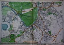 LONDON SURREY  HAMPTON COURT  KINGSTON SURBITON   LARGE SCALE MAP BACON  c1928