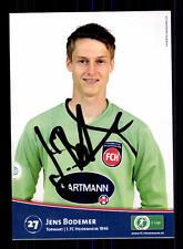 Jens Bodemer Autogrammkarte 1 FC Heidenheim 2009-10 Original Signiert+A 163462