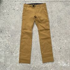Prana Mens Bronzed Stretch Zion Straight Fit Nylon Pants Size 28x32