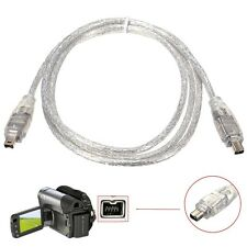 New 1.2M/4FT IEEEA 1394 4Pin Male to 4Pin Male FireWire DV Cable Converter Cord