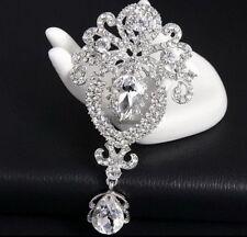 Crystal Rhinestone Brooch Pin Bridal Bonquet Favor Jewelry Gift