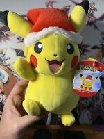 Pikachu Christmas Holiday Plush NEW Wicked Cool Toys Pokemon