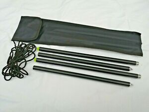 MOD COLLAPSABLE COMPACT DISTANCE WRAP STICKS WITH FLURO TOPS AND CORD IN CASE