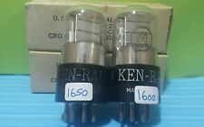 2 Matching Ken Rad 3Q5 GT  VT-221 Vacuum Tubes Tested Good Calibrated Hickok