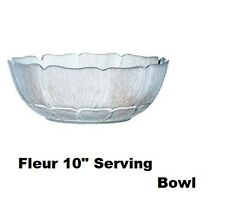 A New Arcoroc Fleur Glass Dessert Serving Dish / Bowl 3.5 litre 27 cm  Tableware