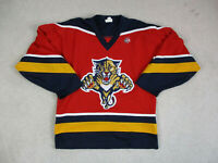 VINTAGE CCM Florida Panthers Hockey Jersey Adult Small Blue Red NHL SEWN Mens A5