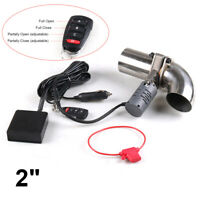 """2"""" 52mm Electric Exhaust Muffler Valve System Cutout Pipe Kit Adjustable Remote"""