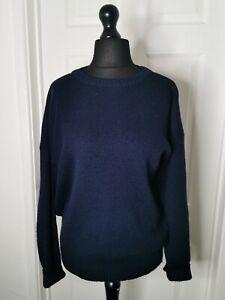 Vintage Jayfor Auchtermuchty Made in Scotland UK 14 Wool Sweater Jumper Blue