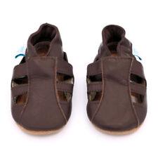 Scarpe sandali marrone in pelle per bimbi