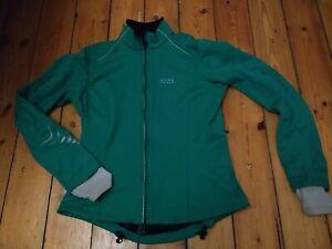 Gore Bike Wear Jacket Womens Medium 38 Green Long Sleeved Windstopper Soft Shell