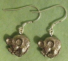 Mouse Earrings - Pewter with Sterling Silver Ear Wires (or Gp) Mice Rat Rodent