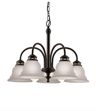 Dark Oil-Rubbed Bronze Dining Room Chandelier Ceiling Lighting Fixture, New!