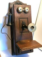 Antique Vintage Stromberg-Carlson Wood Telephone Wooden Crank Phone
