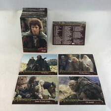 LORD OF THE RINGS: THE TWO TOWERS (Topps/2002) Complete Trading Card Set (#1-90)