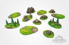 UNIVERSAL BattleField SET 12 pieces Wargame scenery Warhammer W40K 28mm painted