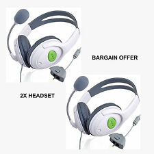 2X NEW DELUXE HEADSET HEADPHONE WITH MICROPHONE FOR XBOX 360 LIVE UK SELLER