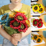 Yellow  Silk Sunflower Wedding Decoration Artificial Flower Fake Flores Bouquet