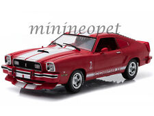 GREENLIGHT 12940 1978 78 FORD MUSTANG II COBRA II FREE WHEELIN 1/18 RED / WHITE