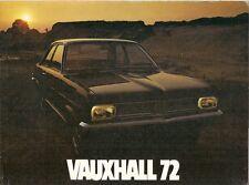 Vauxhall 1971-72 UK Brochure Viva Firenza Victor VX 4/90 Ventora Cresta Viscount