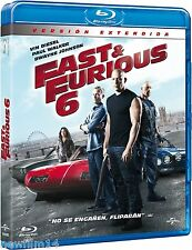 FAST & FURIOUS 6 BLU RAY VERSION EXTENDIDA NUEVO ( SIN ABRIR ) SONY PICTURES