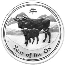 2 OZ Silber 999 2 AU$ Lunar II 2009 Silver Jahr des Ochsen