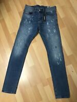 NWT MENS Diesel TEPPHAR PATCHED Stretch Denim 084QS BLUE Slim W28 L32 H5 RRP£150