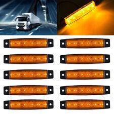 10X 6 LED Side Marker Amber Clearance Trailer Lights Lamp Indicator Boat Truck