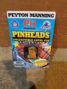 Peyton Manning 1999 Vintage 90's VTG Pinheads Collectible Lapel Pin Memorabilia