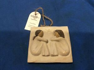 2001 Willow Tree Friendship Hanging Plaque w/tag