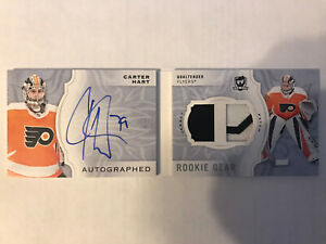 18-29 Carter Hart Autographed Rookie Gear Patch Booklet #10/24 The Cup