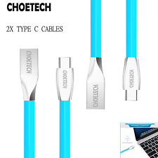 2x 1.2M 4ft USB-C Type C To USB-A Premium TPE FAST Quick Charging Charger Cables