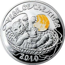 2009 Niue 1$ Lunar Year of the Tiger 2010 - baby tiger cub Silver Proof rare